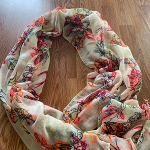 Summer Scarf, Bright Colors. Pink, Orange, Yellow